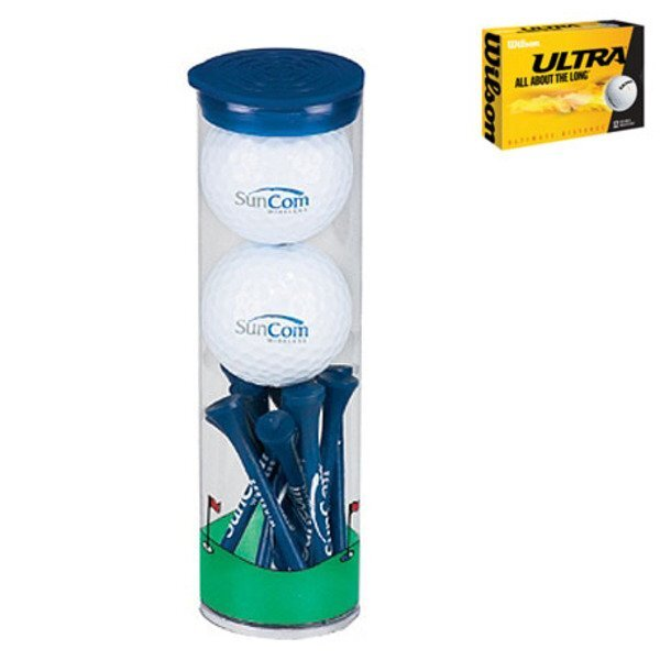 Wilson® Ultra 2 Ball Tube w/ Tall Tees