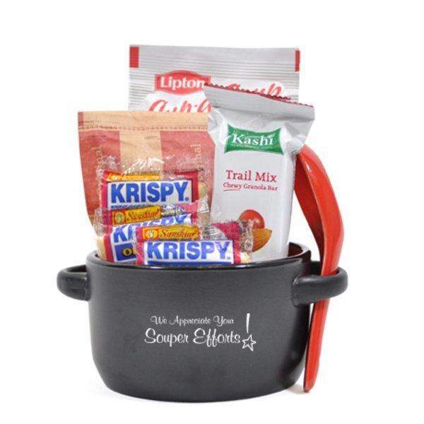 "Appreciation Breakfast & Lunch Soup Mug Gift Set, ""We Appreciate Your Souper Efforts!"" Design, Stock"