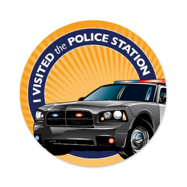 I Visited the Police Station Sticker Roll, Stock