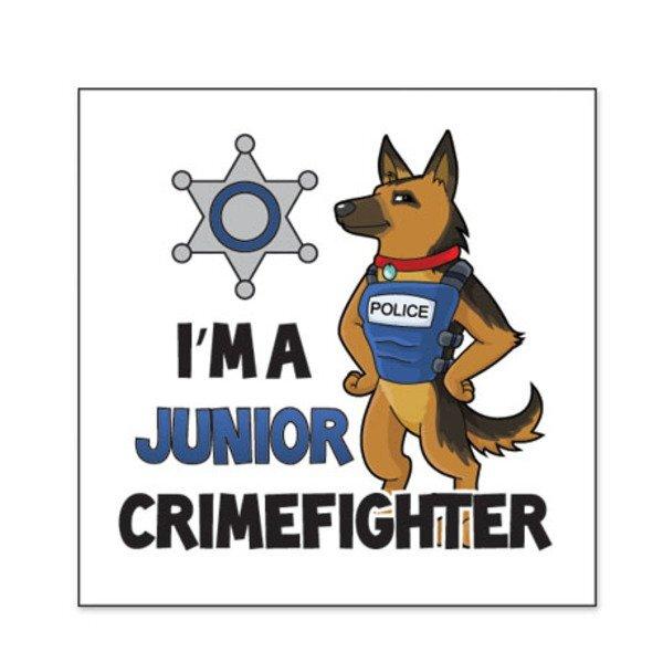 I'm a Junior Crimefighter Temporary Tattoo, Stock