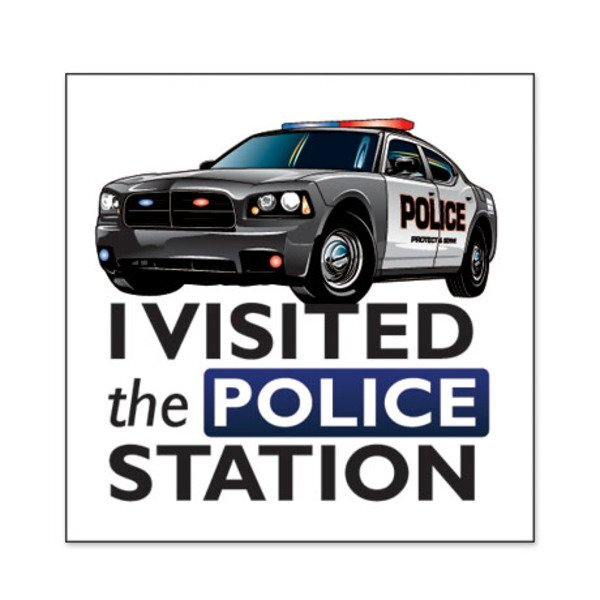 I Visited the Police Station Temporary Tattoo, Stock