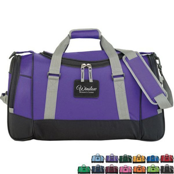"""Deluxe 600D Polyester Travel Duffel, 22"""""""
