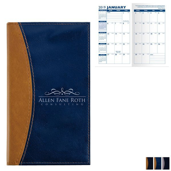 Normandy Two-Tone Monthly Pocket Planner