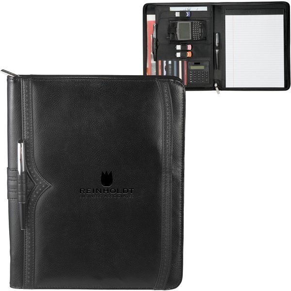 Astaire Zippered Leather Padfolio