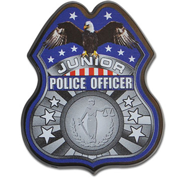 Junior Police Officer Badge, Full Color Direct Print