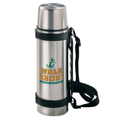 Stainless Steel Travel Thermos,  700ml/24 oz., BPA Free