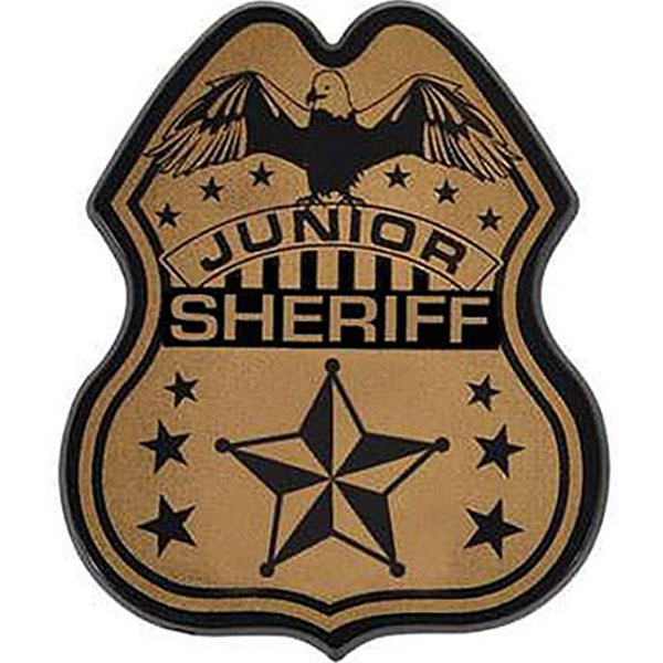 Junior Police Officer Badge, Direct Print
