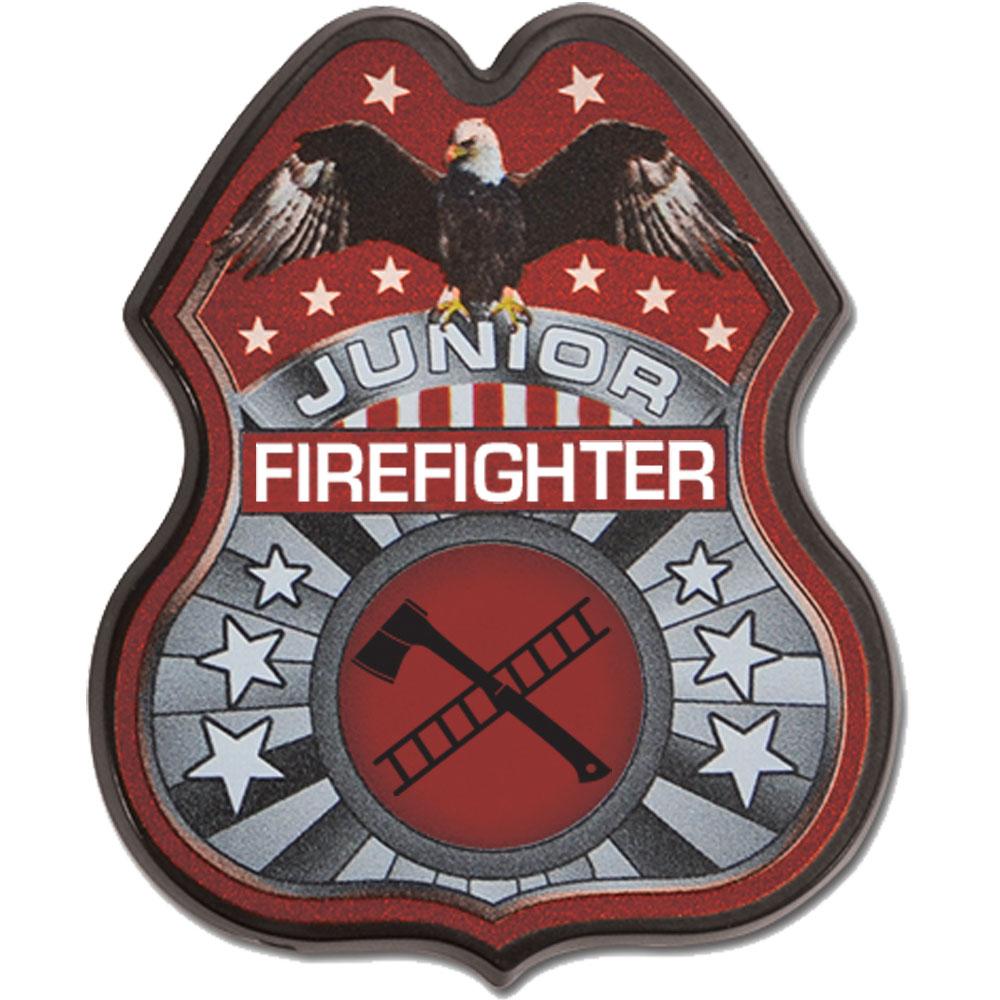 Junior Firefighter Badge, Full Color Direct Print