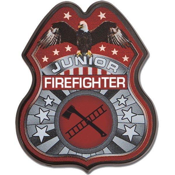 Junior Firefighter Badge, Full Color Imprint