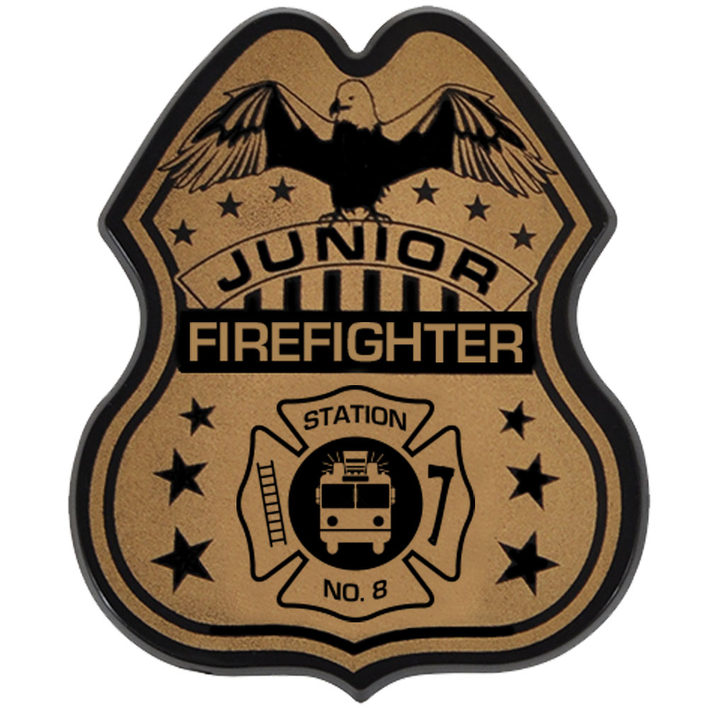 Junior Firefighter Badge, Direct Print