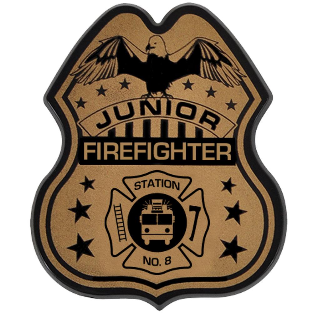 Junior Firefighter Badge, Direct Print