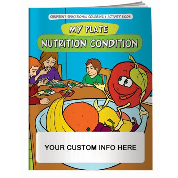 Nutrition Condition, My Food Plate Coloring Book