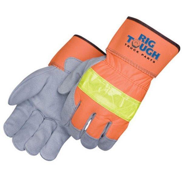 Safety Split Leather 3M™ Scotchlite™ Work Gloves