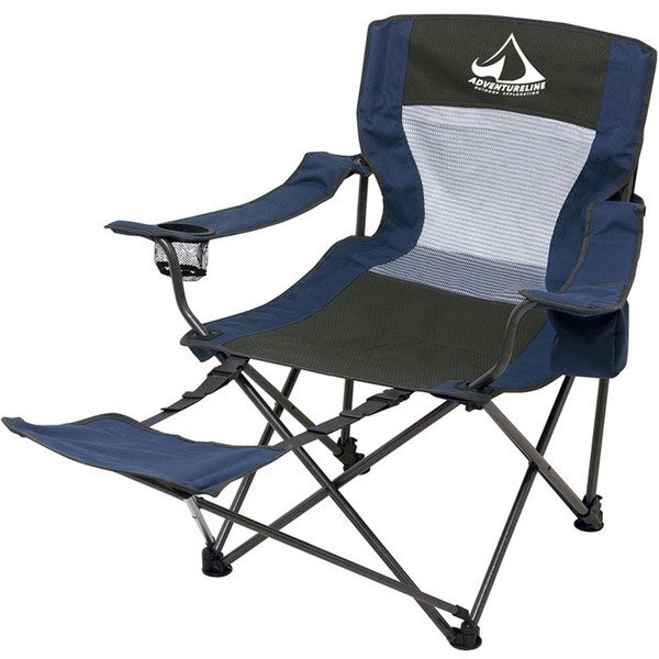 Foldable Chair w/ Foot Rest