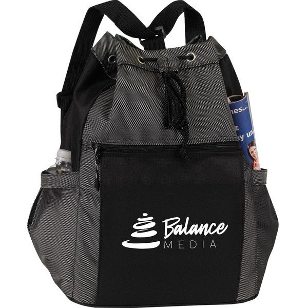 Drawstring Polyester Travel Tote/Backpack