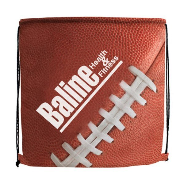 Football Style 210D Polyester Drawstring Backpack