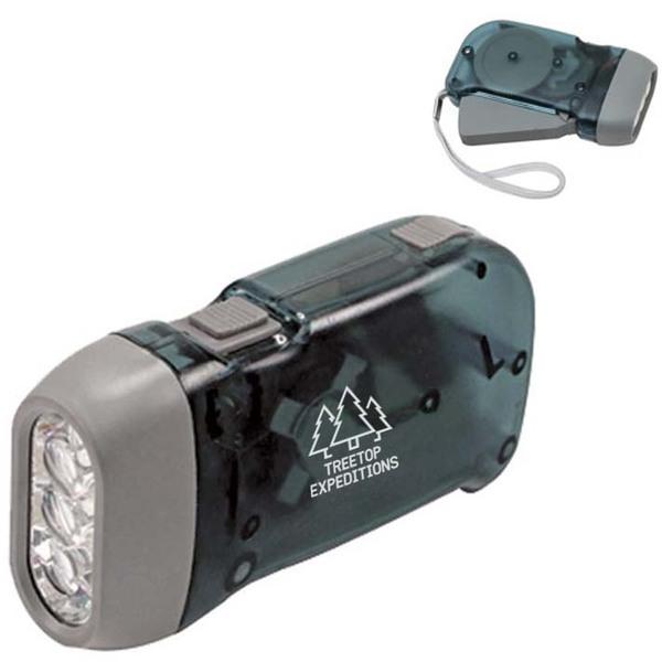 Compact 3 LED Dynamo Flashlight