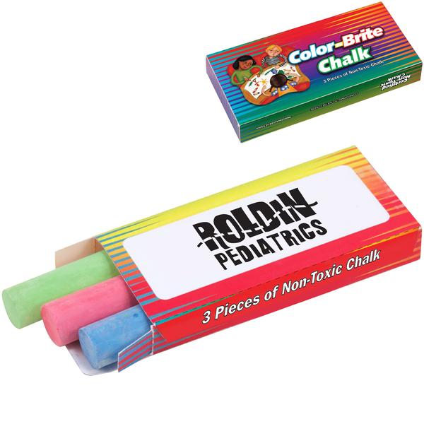 Color-Brite Chalk, 3 Piece Pack