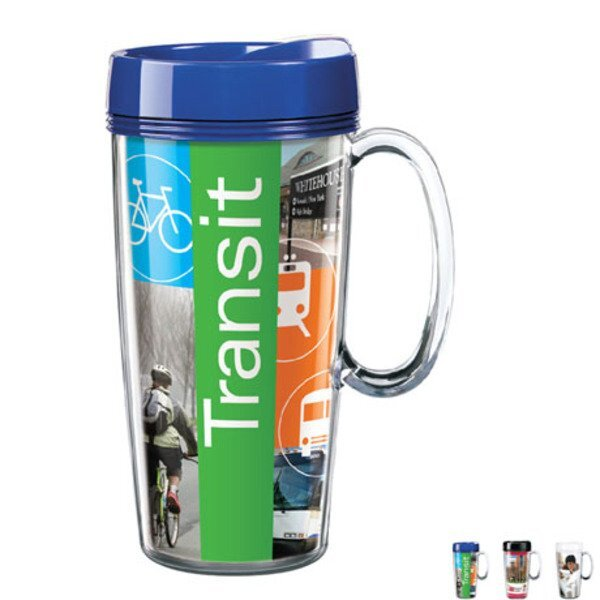ThermalStar™ Travel Mug, 16oz. w/ Full Color Imprint