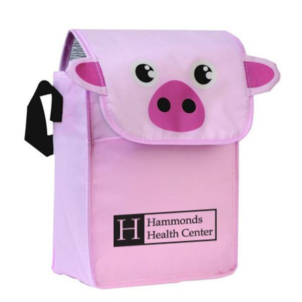Paws N Claws Polyester Lunch Bag - Pig