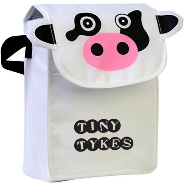 Paws N Claws Polyester Lunch Bag - Cow