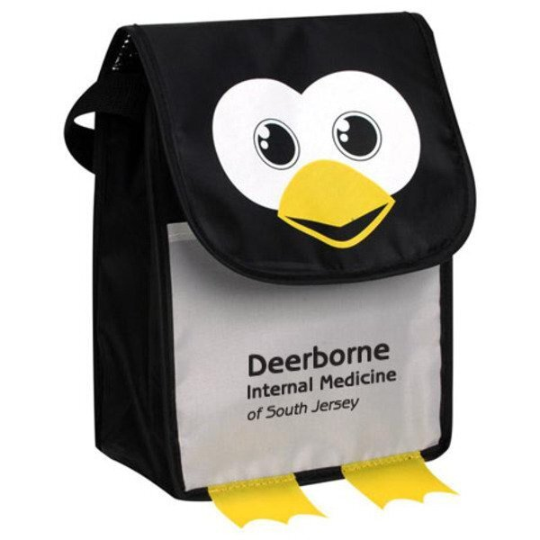 Paws N Claws Polyester Lunch Bag - Penguin