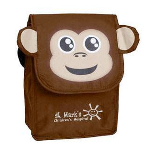 Paws N Claws Polyester Lunch Bag - Monkey