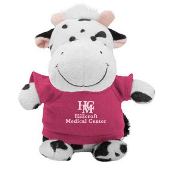 Black/White Cow Plush Bean Bag Buddy, 7""