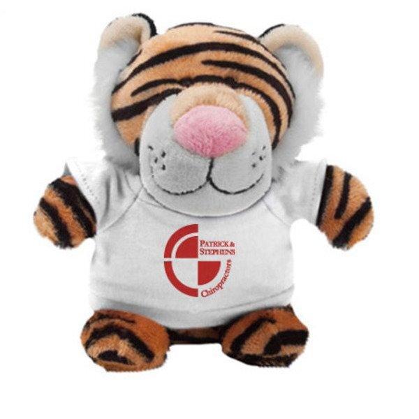 "Tiger Plush Bean Bag Buddy, 7"""