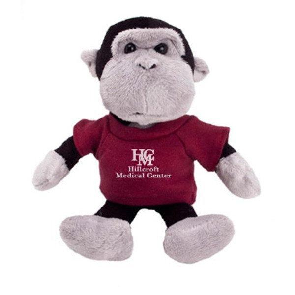 """Gorilla Plush Mascot, 8"""""""