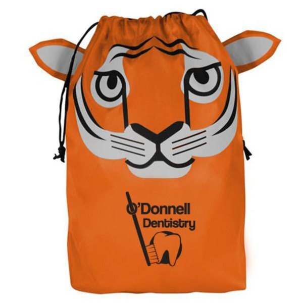 Paws N Claws Polyester Gift Bag - Tiger