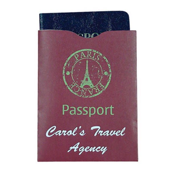 RFID Blocker Paper Cardstock Passport Sleeve