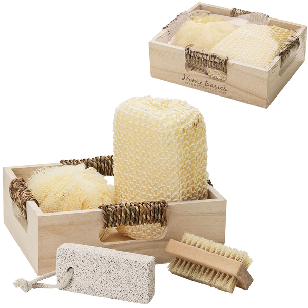 Getaway Four Piece Spa Kit in Wooden Box