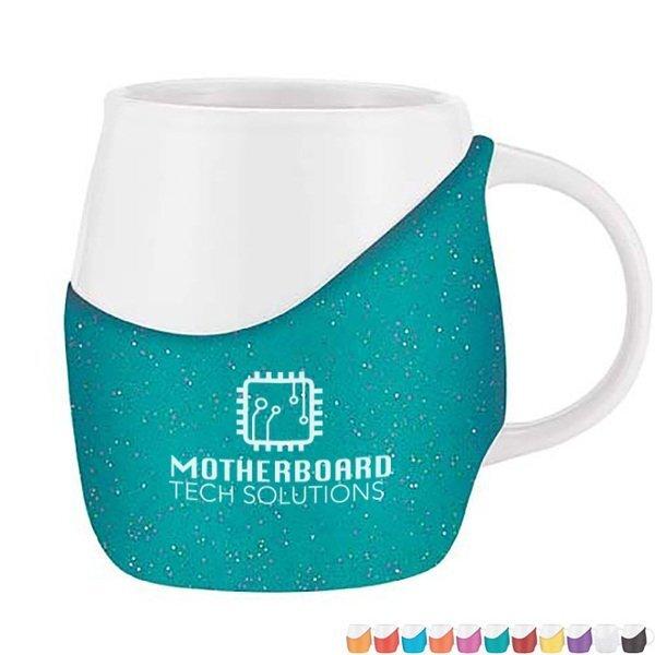 Rotunda Glitter Ceramic Mug, 12oz.