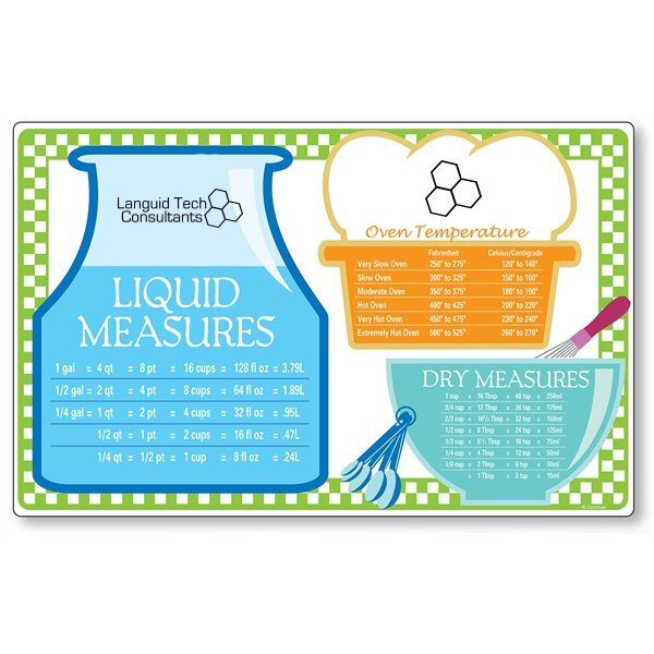 Cooking Measurements Cutting Mat