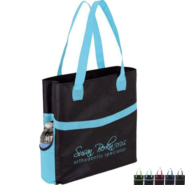 Swoop Color Accent Non-Woven Tote Bag
