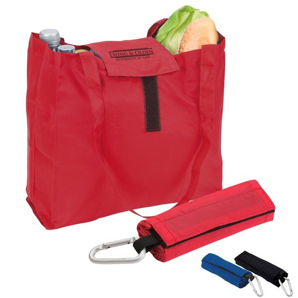 Foldable Tote w/ Carabiner Hook