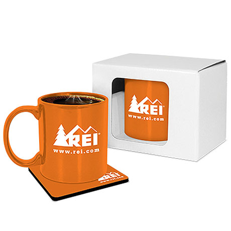 Classic Mug & Neoprene Coaster Gift Set, 11 oz.