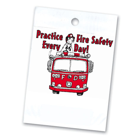 Litterbag, Fire Engine Practice Fire Safety Every Day Stock - Closeout!