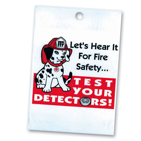 Litterbag, Let's Hear it For Fire Safety Test Your Detectors, Stock - Closeout!