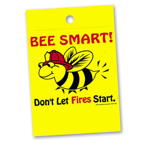 Litterbag, Bee Smart! Don't Let Fires Start Stock - Closeout!