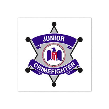 Junior Crimefighter Temporary Tattoo, Stock