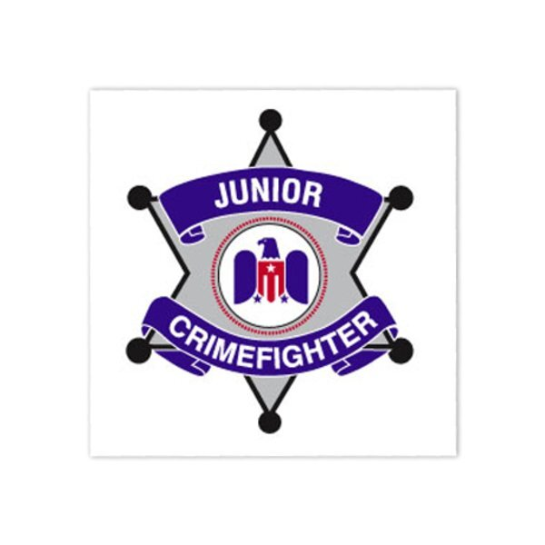 Junior Crimefighter Temporary Tattoo, Stock