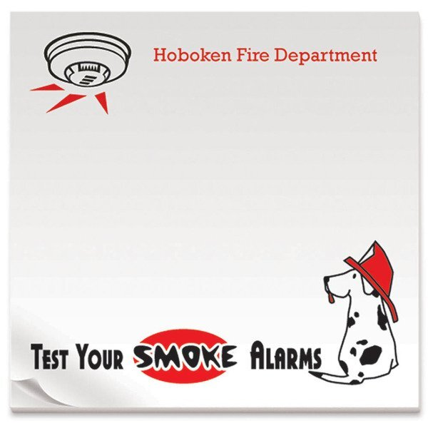 Test Your Smoke Alarms, 25 Sheet Sticky Pad