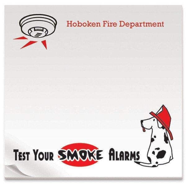 """BIC® Adhesive 25 Sheet Notepad, Test Your Smoke Alarms, 3"""" x 3"""""""