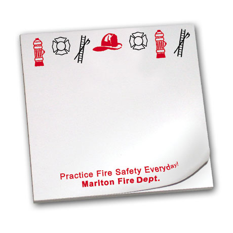 Practice Fire Safety Everyday, 25 Sheet Sticky Pad