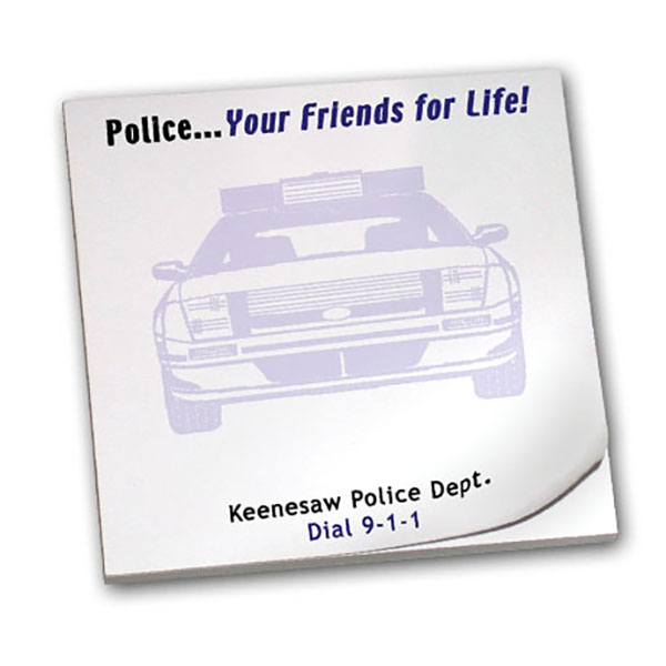 Police... Your Friends for Life!, 25 Sheet Sticky Pad