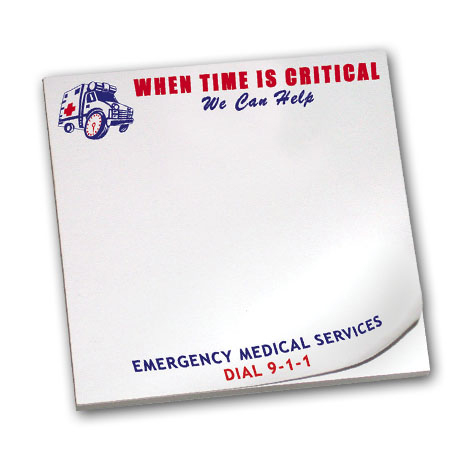 When Time is Critical We Can Help, 25 Sheet Sticky Pad