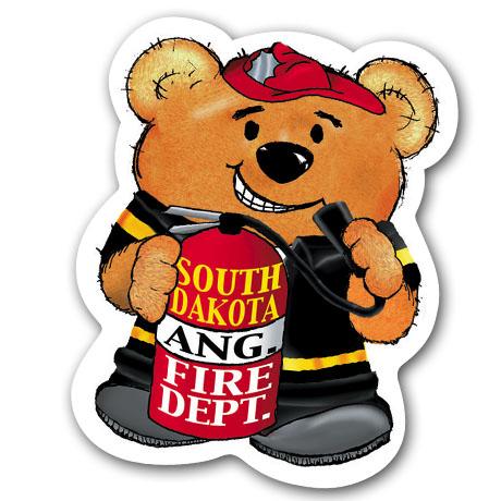 Firefighter  Bear Magnet