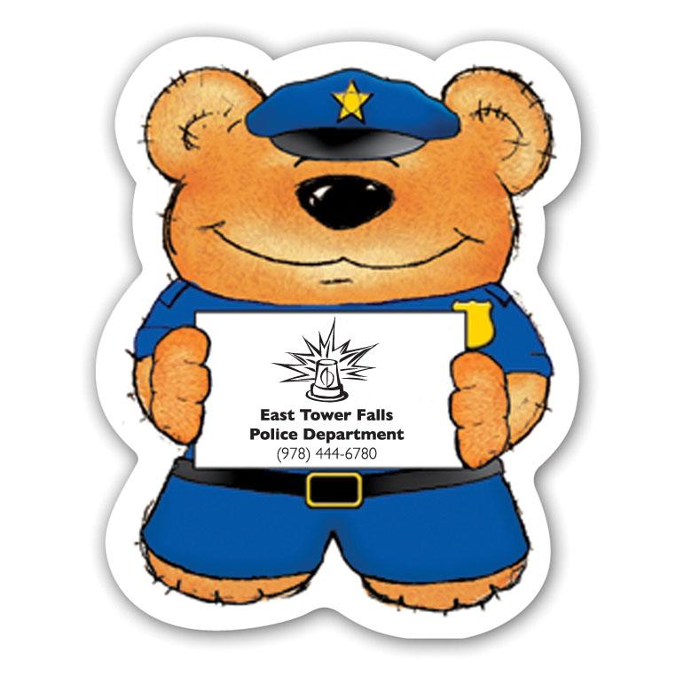 Police Bear Magnet